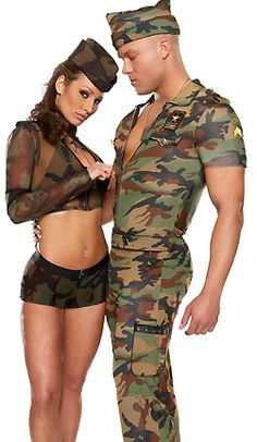 3 Piece G.I. Guy Costume includes Camouflage Jumpsuit, Hat and Dog Tags