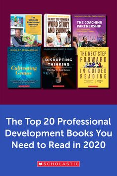 Resolve to acquire new skills and better support your students in the new year with these top professional development books from Scholastic. Book Club Books, Good Books, Professional Development For Teachers, Teaching Profession, Reading Library, Reading Specialist, Teacher Books, Instructional Coaching, Writing Challenge