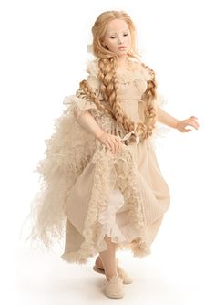 Hildegard Gunzel Dolls are made of porcelain and then coated with wax.