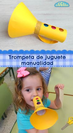 Recycle that old kitchen roll or paper towel tube to make this fun toy trumpet! … Recycle that old kitchen roll or paper towel tube to make this fun toy trumpet! A great craft for little ones to make and play with afterwards! Kids Crafts, Toddler Crafts, Preschool Crafts, Paper Craft For Kids, Decor Crafts, Cardboard Crafts Kids, Preschool Music Activities, Oral Motor Activities, Craft Kids