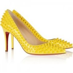 Spikey Inspired Bright Yellow Louboutins That Will WOW You!   A Few Goody Gumdrops