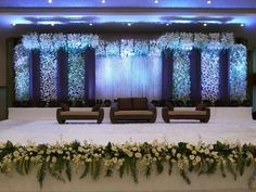Best Wedding Stage Decoration Ideas for Indian Wedding Best Wedding Stage Decoration Ideas for Indian Wedding Best Wedding Stage Decoration Ideas for Indian Wedding. wedding stage Best Wedding Stage Decoration Ideas for Indian Wedding Reception Stage Decor, Wedding Reception Backdrop, Garland Wedding, Wedding Receptions, Indian Wedding Stage, Wedding Stage Design, Royal Blue Wedding Decorations, Wedding Centerpieces, The Knot