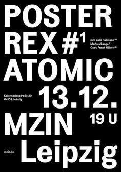garadinervi - 13.12.2014 – 17.12.2014 Poster Rex – Atomic