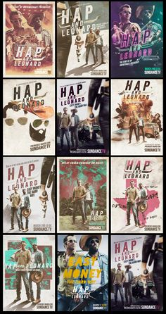 "Key art for the new SUNDANCE series ""HAP & LEONARD"""