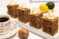 prajitura-rapida-cu-dovleac-si-nuci Latte, No Cook Desserts, Fudge, Foodies, Cooking Recipes, Tea, Coffee, Breakfast, Kaffee