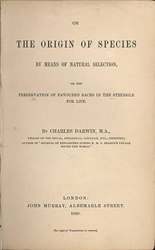 """It is often stated that """"the survival of the fittest"""" is not from Darwin himself. It was used from edition 5 on instead of """"Natural Selection"""". The subtitle of the 1st ed. had been """"Preservation of Favoured Races in the Struggle for Life""""."""