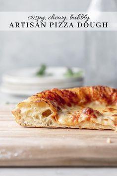 Good Food, Yummy Food, Pasta, Italian Recipes, Soft Pizza Dough Recipe, Artisan Pizza Crust Recipe, Beer Pizza Dough Recipe, Gastronomia, Gourmet