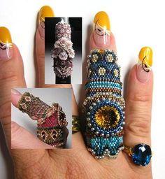 """Finger Rings""  Bead Gallery Art  Seed Beaded Finger Rings  Category: Art  MCN: CPWGF-YSN2L-CFKCC  © copyright Sun Jul 11 18:36:19 UTC 2010 - All Rights Reserved"