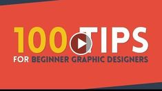 100 Tips for Beginner Graphic Designers  100th Video Celebration  http://videotutorials411.com/100-tips-for-beginner-graphic-designers-100th-video-celebration/  #Photoshop #adobe #lightroom #graphicdesign #photography