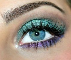 Turquoise and lilac