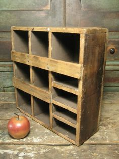 Sweet Old Country Hand Made Wooden Cubby Wall Cabinet, One of a Kind  #HannahsHouseAntiques http://www.rubylane.com/item/497177-9119/Sweet-Country-Hand-Made-Wooden
