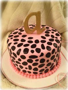 Cheetah cake for a little girl's birthday!