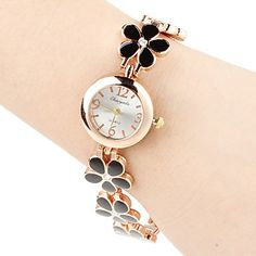 eJero : Damen Quarz Analog Blume Stil Legierung Band Armbanduhr (Farbe zufällig) ONLY €3.49 , and you can also get unlimited Cashback from eJero.com