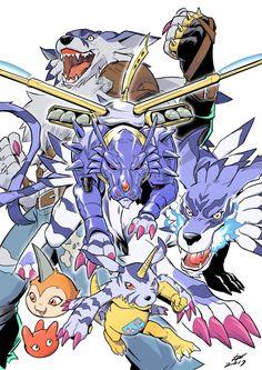 Digimon - Gabumon Evolution Line, Ivan Fiorelli Digimon Adventure Tri., Anime Manga, Anime Art, Digimon Wallpaper, Character Art, Character Design, Digimon Frontier, Digimon Tamers, Digimon Digital Monsters