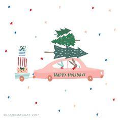 christmas illustration Lizzie Mackay christmas illustration Lizzie Mackay Gifts: Christmas is coming Christmas or the Christ festival, the Festiva. Christmas Mood, Merry Little Christmas, Christmas Design, Vintage Christmas, Christmas Crafts, Christmas Decorations, Xmas, Posca Art, Winter Illustration