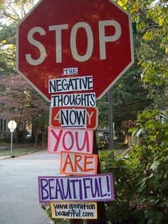 I really wana do this!!    newwavefeminism:    I'm all for street art    How did the stop sign know?!?!?  Go guerilla art!