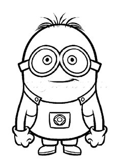 Smiley Minion Despicable Me Coloring Pages Printable And Book To Print For Free Find More Online Kids Adults Of