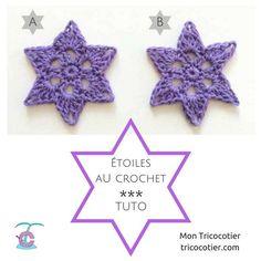 ☆ Jolies étoiles au crochet - Tuto ☆