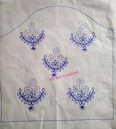 Hand Embroidery Design Patterns, Embroidery Suits Design, Flower Embroidery Designs, Creative Embroidery, Simple Embroidery, Embroidery On Kurtis, Embroidery Motifs, Maggam Work Designs, Simple Blouse Designs