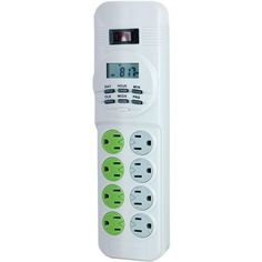 GE 14623 8-Outlet Surge Protector with Energy-Saving Digital Timer, 4ft Cord