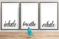 The Yoga Print Set, Inhale, Exhale, Breathe, Namaste Digital Download Art Print Set A4 by campkoodle on Etsy Inhale Exhale, Yoga Art, Pet Portraits, Namaste, Breathe, Art Print, Trending Outfits, A4, Handmade Gifts