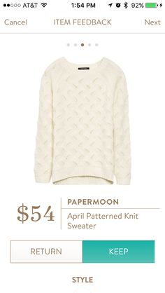 Dear Stitch Fix Stylist - this sweater just looks super cozy. Love the cable knit and the cream color.