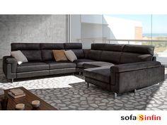 Sofá con chaise-longue modelo Como fabricado por Acomodel en Sofassinfin.es