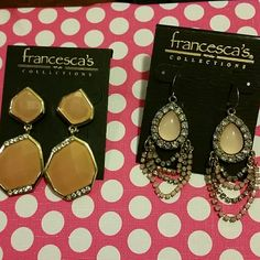 Francesca ' s pink earrings Francesca ' s brand new earrings. 2 pairs. Francesca's Collections Jewelry Earrings