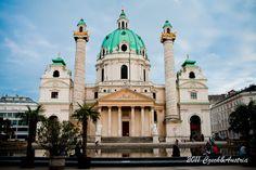 Vienna - 维也纳,卡尔大教堂。