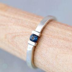 Sapphire Ring - Sterling Silver Ring - Gemstone Jewelry - Blue Gemstone…