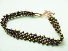 SALE Beadwork Bracelet  Multi Color Metallic Color  by BohemianIce, $10.00