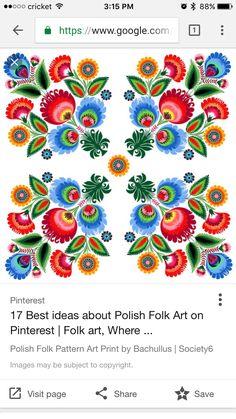 Polish folk art tattoo