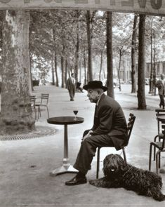 Robert Doisneau  Jacques Prevert Paris 1955
