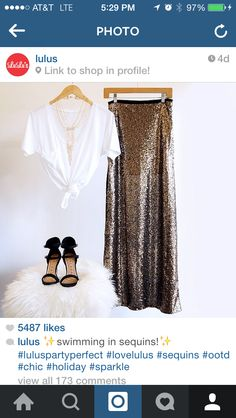 Sequined maxi idea!