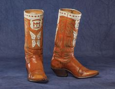 boots belonging to Montie Montana Cowboy Gear, Cowboy And Cowgirl, Cowgirl Boots, Western Boots, Heeled Boots, Shoe Boots, Custom Cowboy Boots, Dale Evans, Fashion Shoes