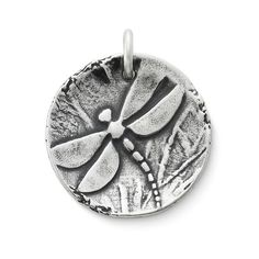 Sculpted Dragonfly Pendant #JamesAvery