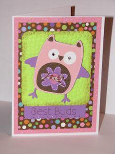 Owl card ~With Cricut