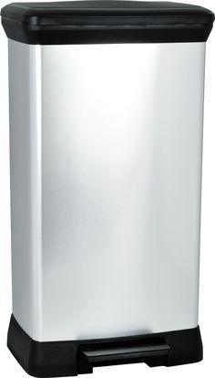 Curver 187152 Poubelle à pédale plastique Argent 50 L: Amazon.fr: Cuisine &…
