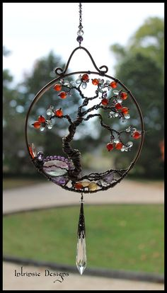 Gemstone and Wire Bonsai Tree Of Life by IntrinsicDesignsArt