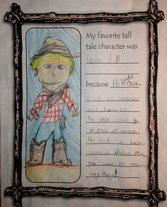 Totally Terrific in Texas: Tall Tales 2nd Grade Ela, 1st Grade Writing, Third Grade Reading, Second Grade, Tall Tales Activities, Writing Activities, Writing Ideas, Creative Writing, Readers Workshop