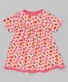 Love this Lotus & Flamingo Berries Swing Dress - Infant & Toddler by KicKee Pants on #zulily! #zulilyfinds