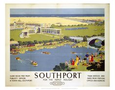 Railway Posters -  Southport Art Print