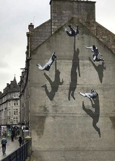 Street Art Banksy, Murals Street Art, Mural Art, Urban Street Art, 3d Street Art, Street Artists, Graffiti Artists, Arte Banksy, Bansky