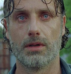 Andrew Lincoln as Rick Grimes. This season has been really hard on him!