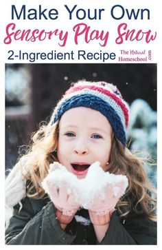 """Hmmmm, I figured we could possibly drive north to catch some snow and play around for a few hours, but then it occurred to me that there must be a way to """"make snow."""" Find a very easy recipe on how to make some """"snow"""" for an amazingly fun sensory play act"""