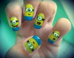 Despicable me minyan nails