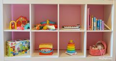 montessori library, ikea shelves