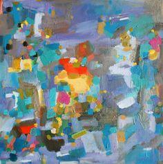 "Saatchi Art Artist: Jenny Vorwaller; Acrylic Painting ""SECRET POCKETS"""