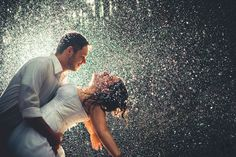 Too gorgeous! I've always loved the rain (warm summer rain) and especially making out in the rain.. just something sexy about it! But this.. this is pure joy and happiness and fun :)