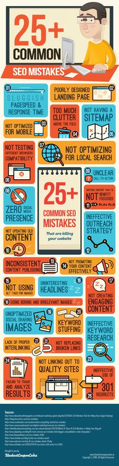The 26 Most Common SEO Mistakes to Avoid (Infographic)